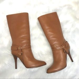 Ralph Lauren Purple Label Stiletto Leather Boots